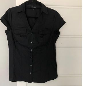 Black Cup Sleeve Shirt